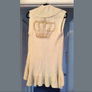 Designer SWEATER WITH CROWN, SIZE LARGE, NWT